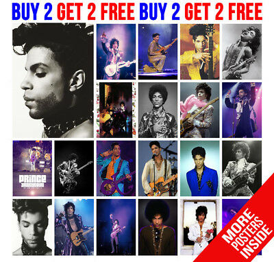 Prince Posters Purple Rain Rock Pop Star  A4 / A3 Size - Buy 2 Get Any 2 Free
