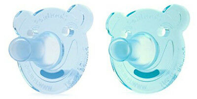 NEW Philips AVENT Soothie Bear Shape Pacifier Green | Blue 0-3 Months x2