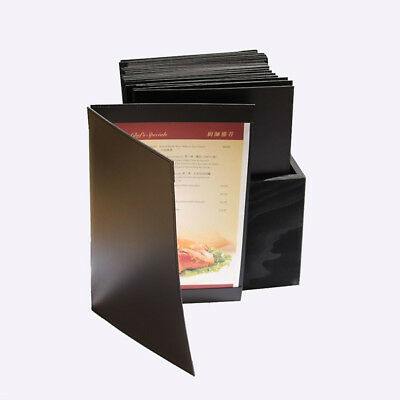15 Black Leather Menu Cover with corners with free storage box