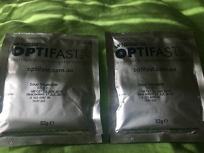 Optifast Diet Vegetable Soup Low Calorie High Fibre Snack Sachet