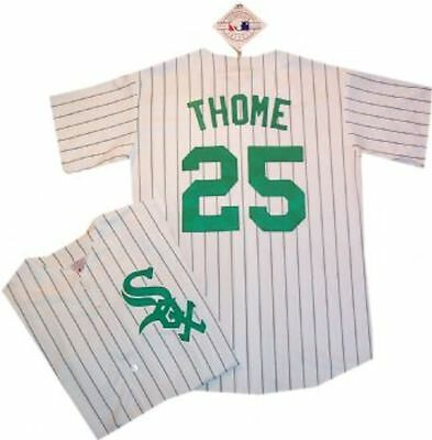 NEW Chicago White Sox Jim Thome St Patricks Day Majestic Replica Jersey LARGE