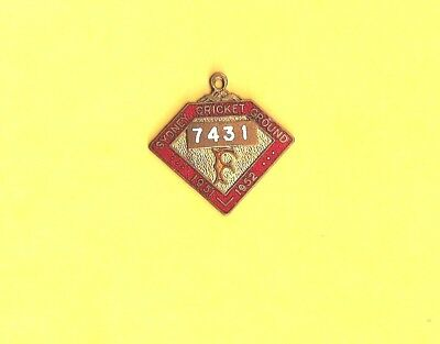 Sydney Cricket Ground Enamel Members  Badge 1951 - 1952