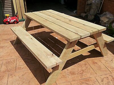 Picnic table treated pine
