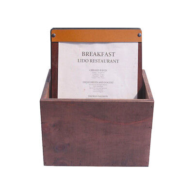 SET 25 Timber A4 Board with LEATHER STRAPS in a matching storage  box