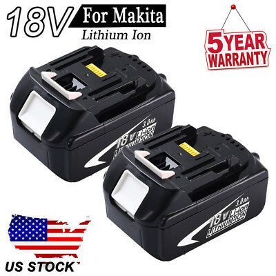 2x18V FOR MAKITA BL1830 BL1845 LXT400 BL1815 Lithium-Ion Upgrade Drill Battery