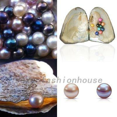 Individually Wrapped Oysters + 10PCS 6-7mm Real ROUND Pearls Wedding Party Gifts