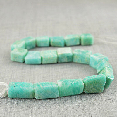 392.00 Cts / 11 Inches Earth Mined Untreated Drilled Amazonite Beads Strand