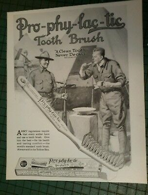 Pro-Phy-Lac-Tic TOOTHBRUSH ad page 1917 military soldier