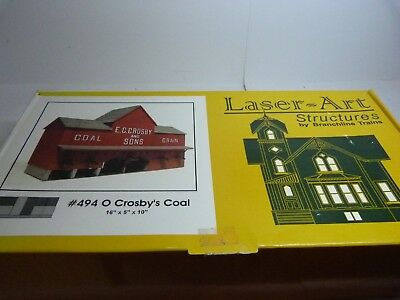 O Scale Laser Art Structure kit. #494 Crosby Coal. Unbuilt.