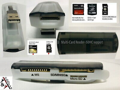 Kartenleser Cardreader USB SDHC Micro SD Mini SD TF M2 All in One transparent