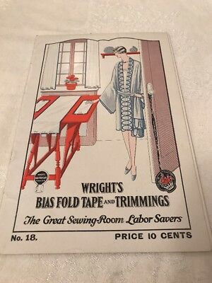 Wright's Bias Fold Tape And Trimmings No. 18 Vintage Catalog 1920's