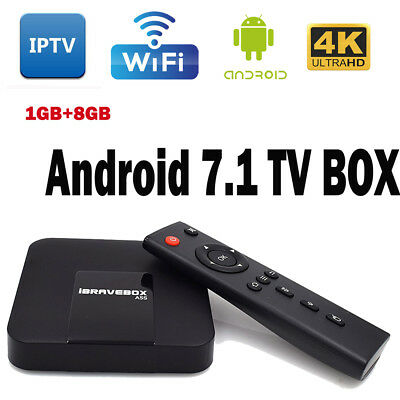 NEW ANDROID 7 1 TV IPTV Player Box WIFI 1GB/8GB Amlogic S905 A5S
