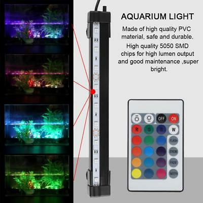 Waterproof Submersible Aquarium Fish Tank RGB LED Light Bar Strip Lamp /Remote
