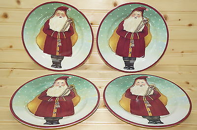 Block Father Christmas by Gear (4) Salad Plates, 8 1/4""