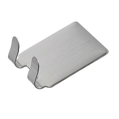 Strong Self Adhesive Stainless Steel Hooks for Kitchen Bathroom Double
