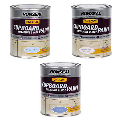 Ronseal One-Coat Cupboard MDF & Melamine Paint - Various Colours Available