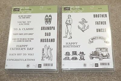 stampin up stamp - Guy Greetings - Rubber stamps