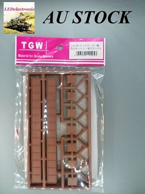 1 pack (3 sets) N scale TGW LA-95 Bridge single track,brown color, model railway