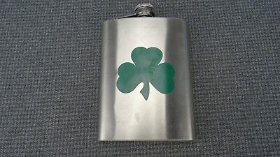 (B1) Bar Basics Green Clover 8 OZ Flask
