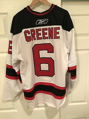 40c18fc58 Andy Greene New Jersey Devils 2007-08 White Set 1 Game Worn Used Jersey  Meigray
