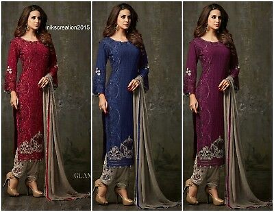 Indian Pakistani Salwar Kameez Suit Designer Party Wear Wedding Shalwar Dress KB