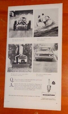 1960 Mercury Commuter Lawn Mower Dragster Boat Canadian Champion Ad / Vintage