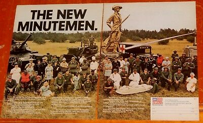 1972 Army National Guard Personel Ad With Vintage Tank Ambulance Bulldozer - 70S