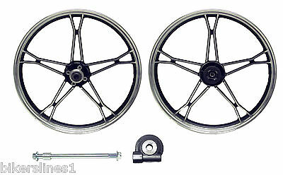 New Oem Suzuki Gn125 Front Wheel Complete With Speedo Drive And Spindle