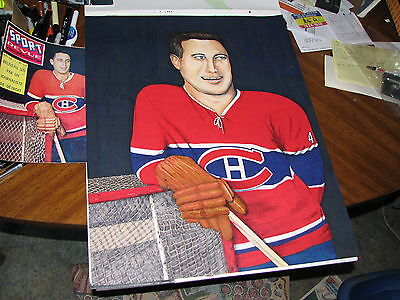 BIG DRAWING JEAN BELIVEAU MONTREAL CANADIANS HOCKEY LEGEND - BY ELTON Mc FALL