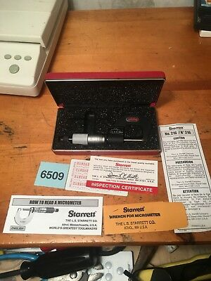 STARRETT 216 Manual Digital MICROMETER In Hard Case Great Condition