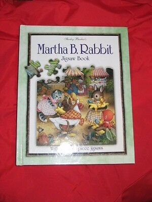 Martha B Rabbit Jigsaw Puzzle Hardcover Book 7 48 Piece Puzzles Mint