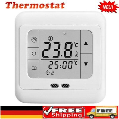 Lcd Display Funk Digital Raumthermostat Thermostat Fußbodenheizung