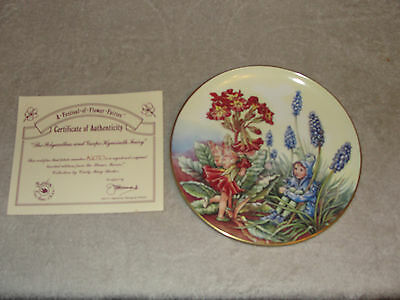 """""""The Polyanthus and Grape Hyacinth Fairy"""" LIMITED EDITION COLLECTORS PLATE"""