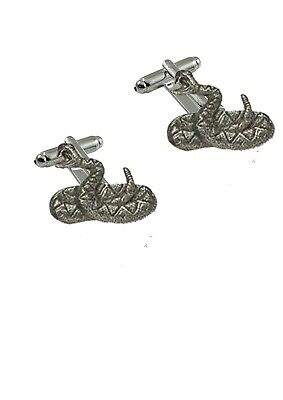 Rattlesnake Pewter Emblem on a Cufflinks Jewellery Smart Suit wedding prom US27