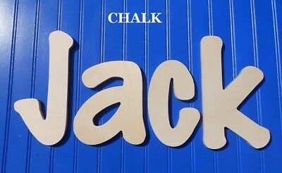 """Unpainted Wooden Wall Letters 8"""" size Home Decor Kid Room Baby Nursery Chalk"""