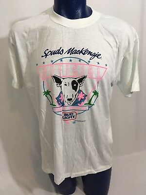 Vintage 80's Spuds MacKenzie Party Animal Official Bud Light Deadstock T-Shirt