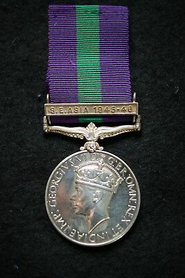 Wwii British General Service Medal Clasp S E Asia 1945-46 Sepoy Mg Bn Dogra Regt