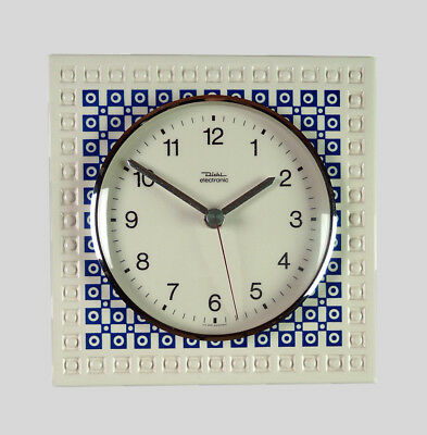Vintage German DIEHL Ceramic Kitchen Wall Clock Retro