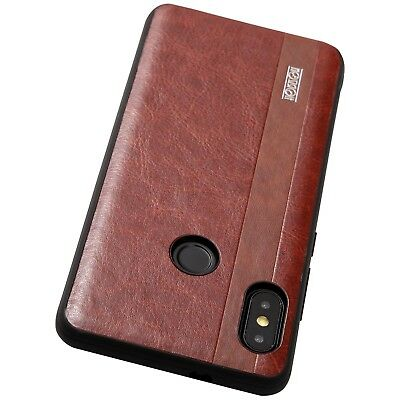 Xiaomi Redmi Note 5 Cover Case Shockproof Rugged Military Noziroh Leather Nero