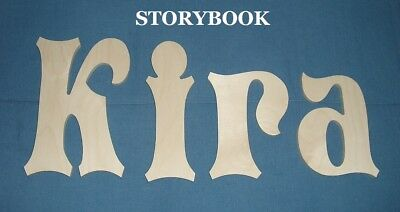 "Unpainted Wooden Wall Letters 10"" size Home Decor Child Baby Nursery Storybook"