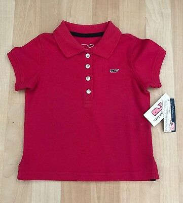 Girls 2T Vineyard Vines Shoreline Polo Solid Punch Whale Nwt Rtv $49.50