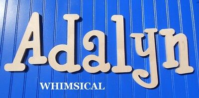 "Unpainted Wooden Wall Letters 10"" size Home Decor Child Baby Nursery Whimsical"