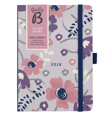 Busy B 2018 To Do Diary   weekly planner with notes & lists