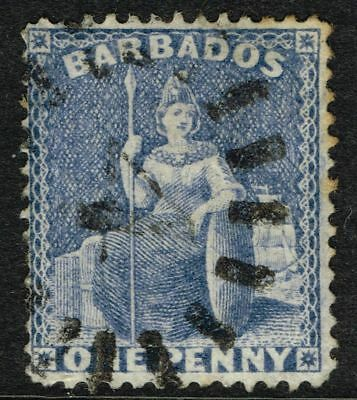SG 73 BARBADOS 1875 – 1d DULL BLUE – USED