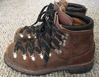 Vintage Dexter Hiking Mountaineering Trail Boots Suede Leather Mens 8 USA Vibram