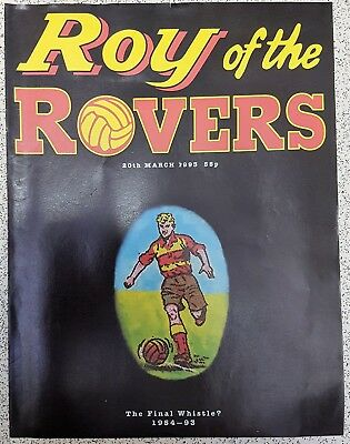 "Roy of the Rovers last edition 20th March 1993 ""The Final Whistle"""