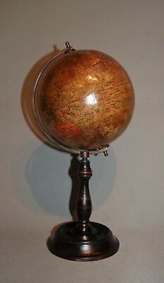 Antique A Late C19th Table Top Globe