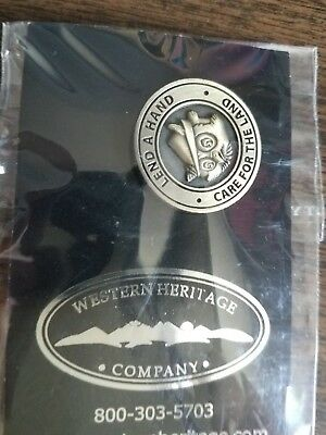 """Us Forest Service Woodsy Owl Brass Slogan 1"""" Pin Tie Tack Back New"""