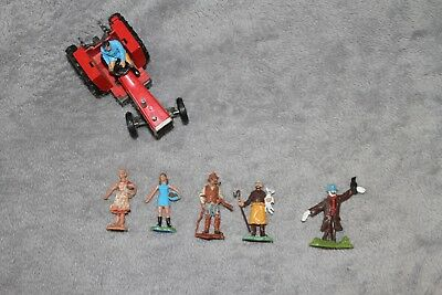 Britains Plastic Farm People and Metal Tractor