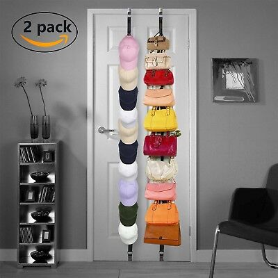 Cap Rack Closet Hanger System Storage 36 Caps Organizer Door Baseball Hat  Holder